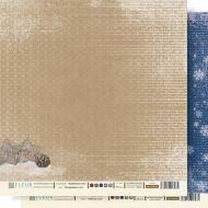 Бумага Искрящийся снег, коллекция Крафтовая Зима