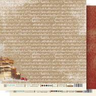 Бумага зимняя мелодия из коллекции Крафтовая Зима