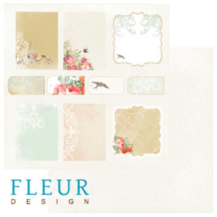 Бумага Карточки, коллекция Цветущая весна для скрапбукинга