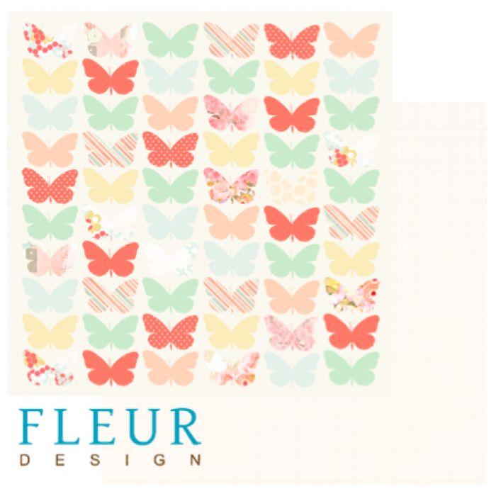 Бумага цветные крылья из коллекции новая весна для скрапбукинга