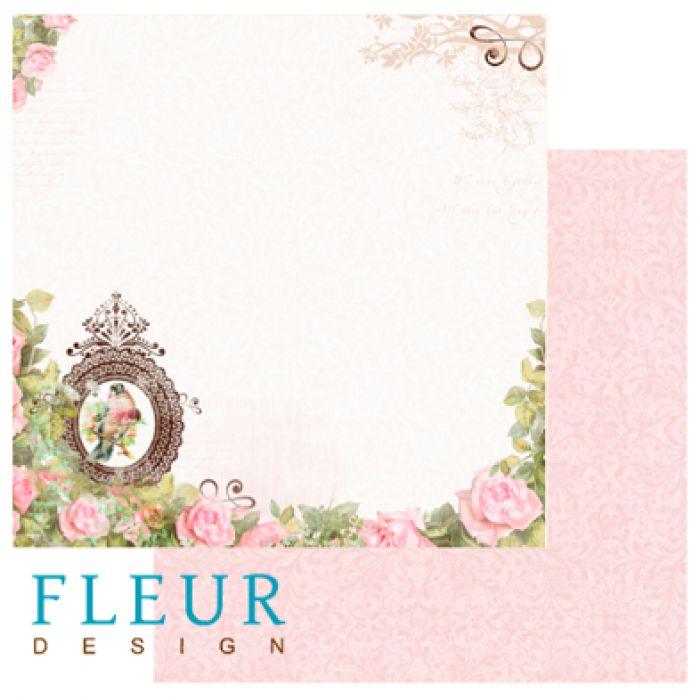 Бумага розовый сад из коллекции солнечное лето для скрапбукинга