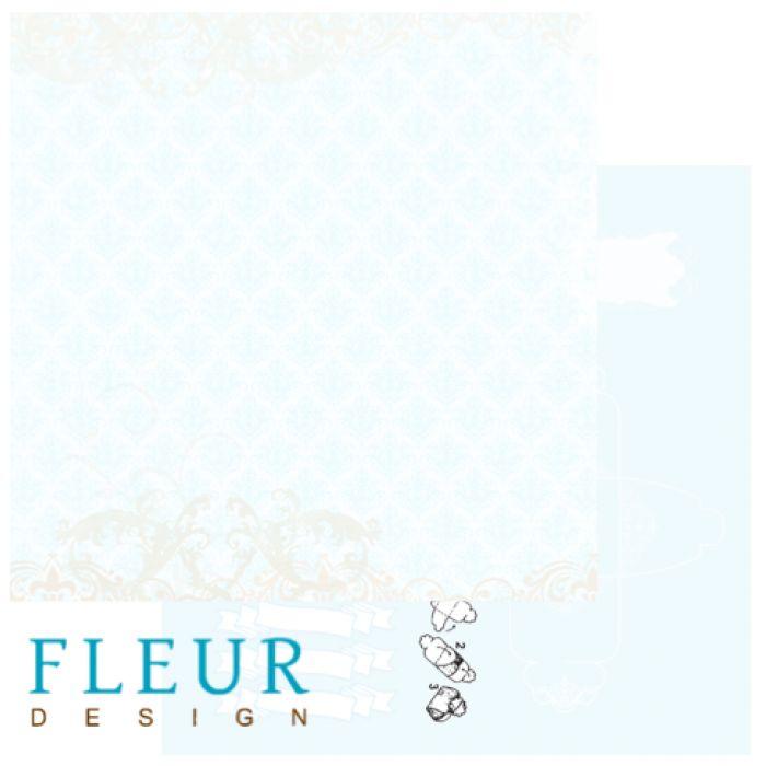 Бумага Голубое кружево, коллекция Свадебная для скрапбукинга