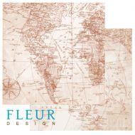 Бумага Карта мира, коллекция Путешествие