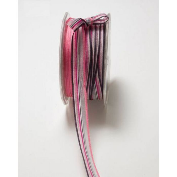 Лента розово-серо-черная для скрапбукинга