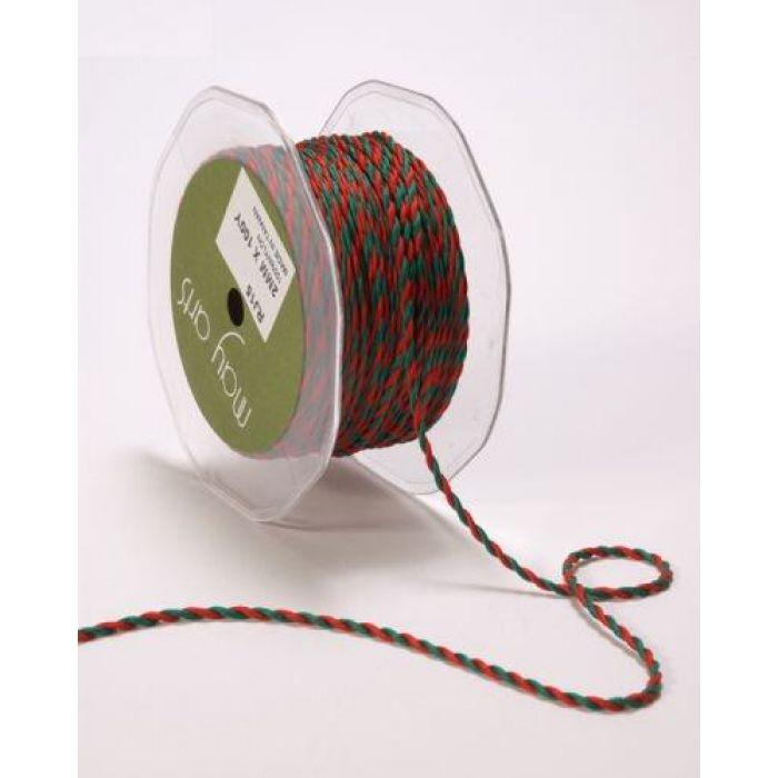Шнур зелено-красный для скрапбукинга