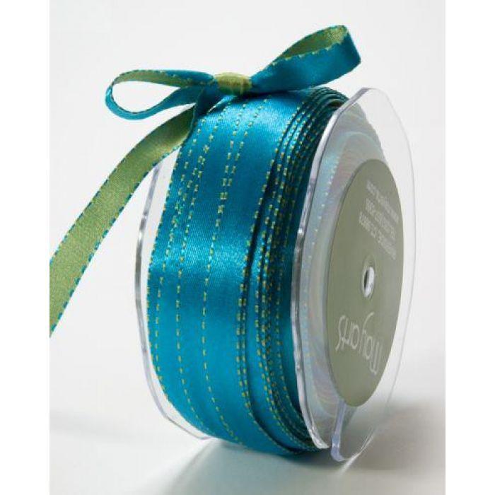 Лента зелено-голубая для скрапбукинга
