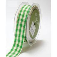 Лента бело-зеленая клетка