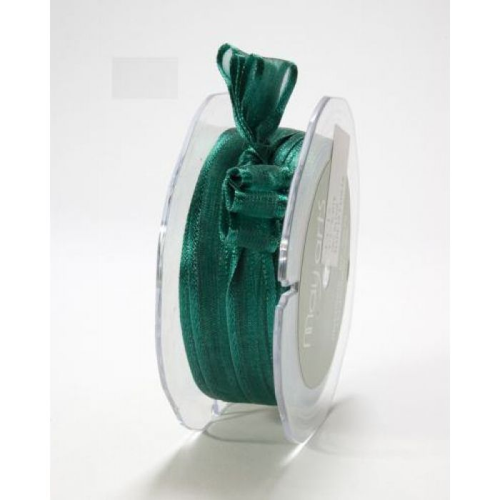 Лента зеленая 1 см для скрапбукинга