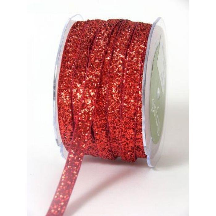 Лента вельветовая красная для скрапбукинга