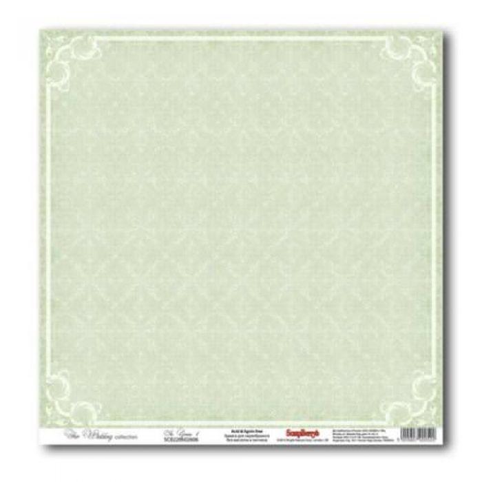 Бумага Нежно-зеленый 1, коллекция Свадебная  для скрапбукинга