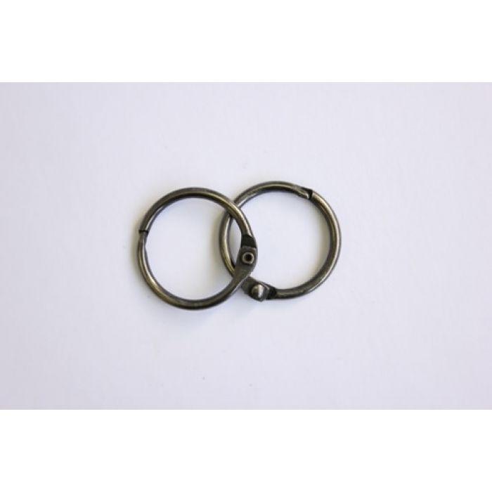 Кольца для альбомов 2 шт серебро 25 мм для скрапбукинга
