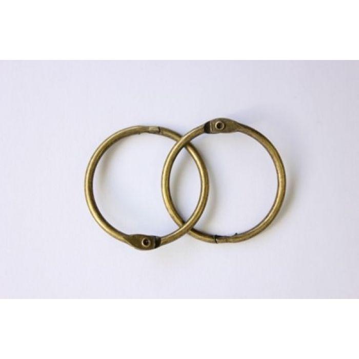 Кольца для альбомов 2 шт состаренная медь 25 мм для скрапбукинга