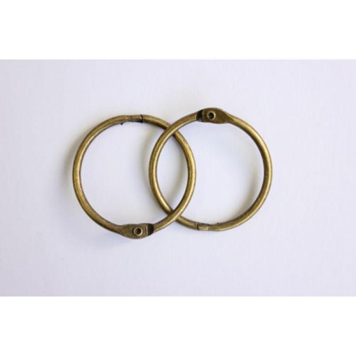 Кольца для альбомов 2 шт состаренная медь 35 мм для скрапбукинга