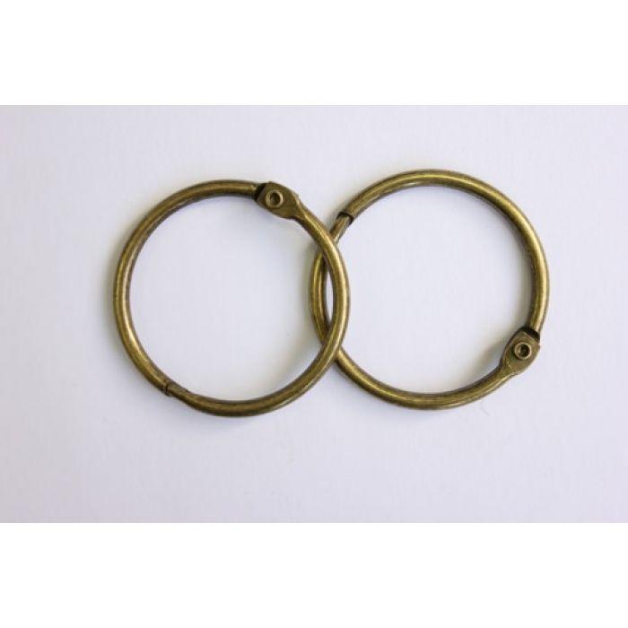 Кольца для альбомов 2 шт состаренная медь 40 мм для скрапбукинга