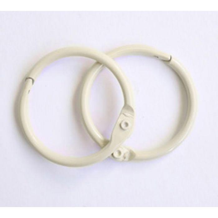 Кольца для альбомов 2 шт слоновая кость 50 мм для скрапбукинга