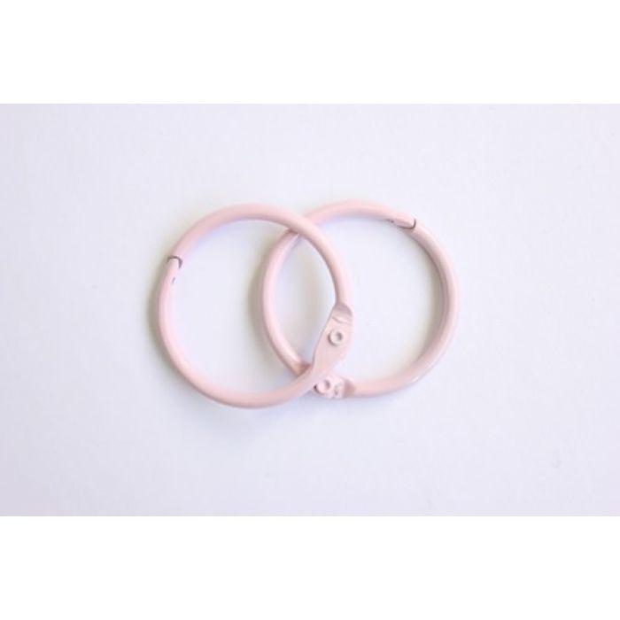 Кольца для альбомов 2 шт розовые 30 мм для скрапбукинга
