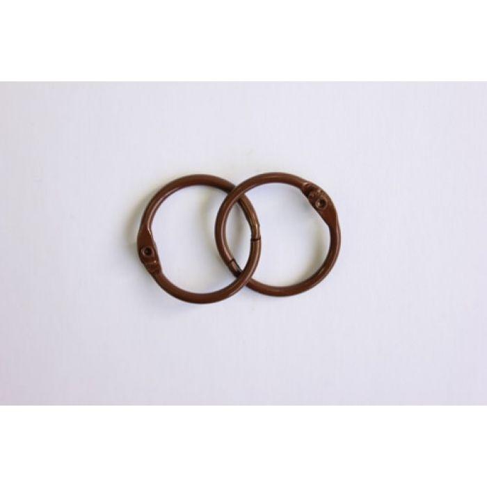 Кольца для альбомов 2 шт темно-коричневые 25 мм для скрапбукинга