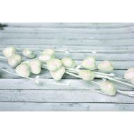 Веточка Сердечки в сахарной обсыпке с глиттером