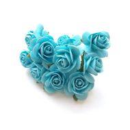 Розы светло-бирюзового цвета, 25 мм