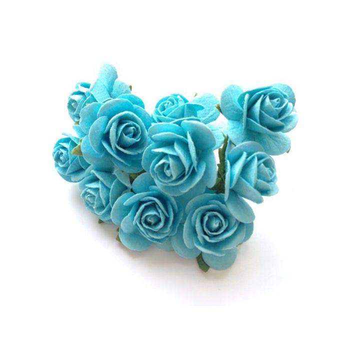 Розы светло-бирюзового цвета, 25 мм для скрапбукинга