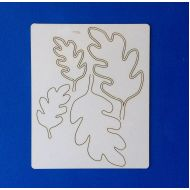 Чипборд листья дуба