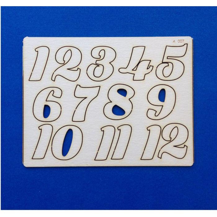 Набор цифр от 1 до 12 (2) для скрапбукинга