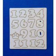 Набор цифр от 1 до 12