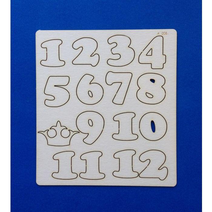Набор цифр от 1 до 12 для скрапбукинга