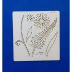Чипборд цветок