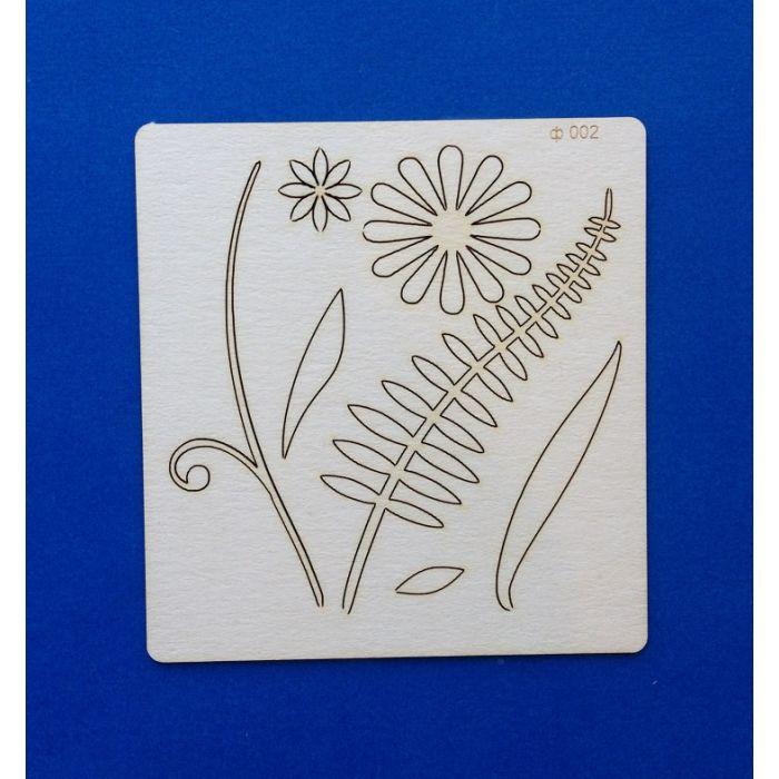 Чипборд цветок для скрапбукинга
