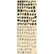 Рельефные наклейки, коллекция Life's Journey, Алфавит