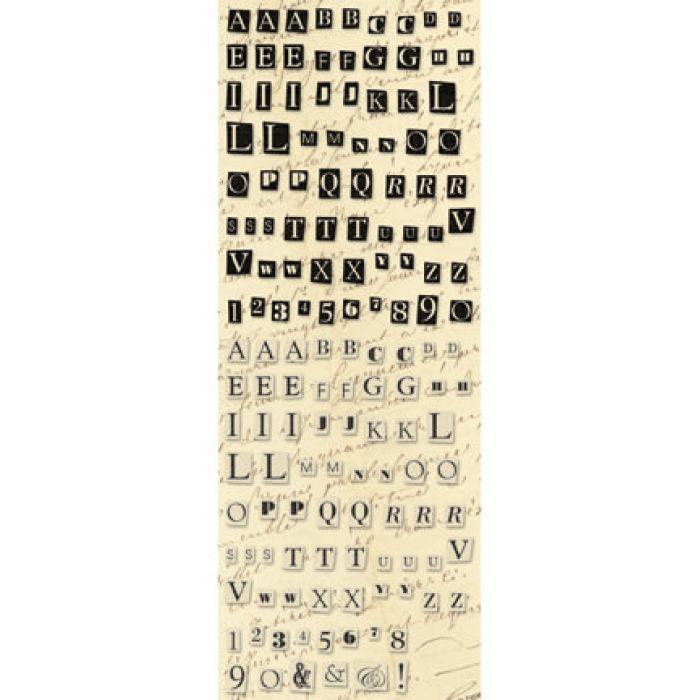 Рельефные наклейки, коллекция Life's Journey, Алфавит для скрапбукинга