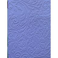 Цветочные завитки, тисненый картон