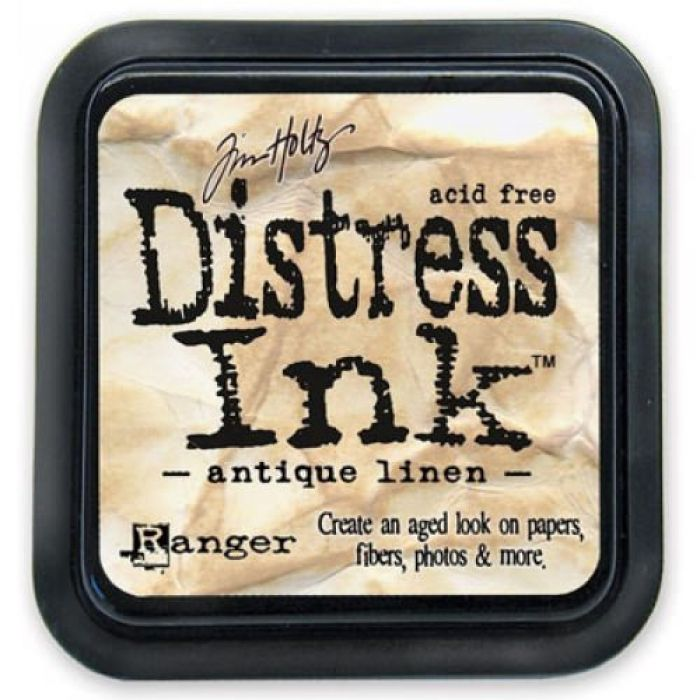 Дистрессинговые чернила, цвет Antique Linen, Ranger Ink для скрапбукинга