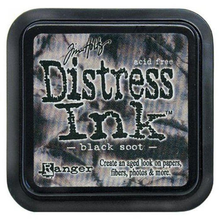 Дистрессинговые чернила, цвет Black Soot, Ranger Ink для скрапбукинга