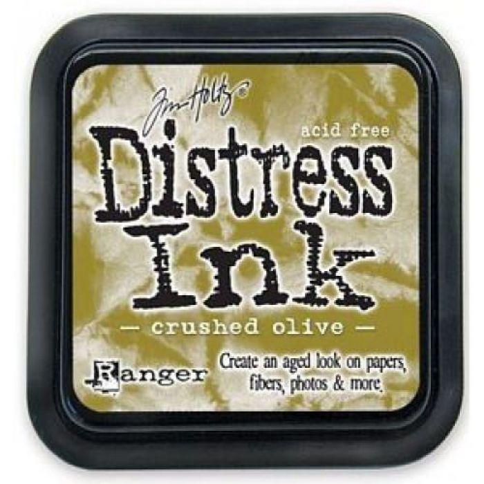 Дистрессинговые чернила, цвет Crushed Olive, Ranger Ink для скрапбукинга