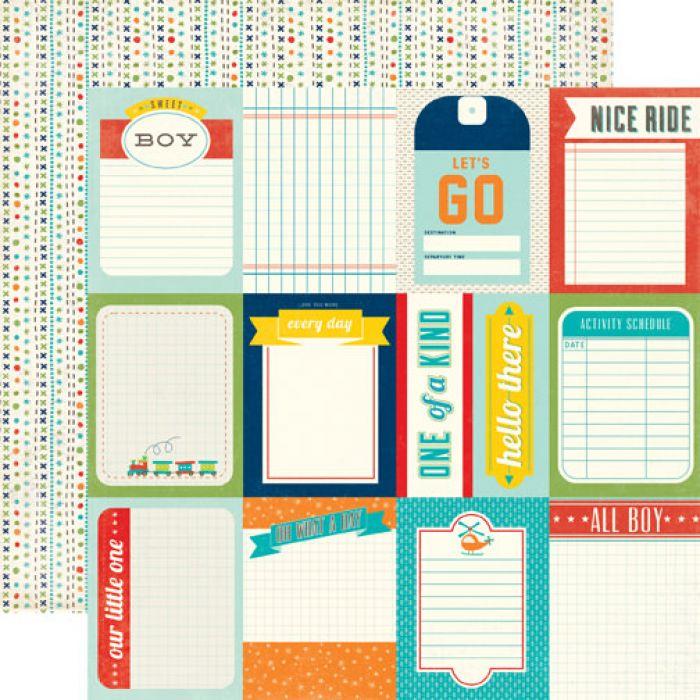 Бумага Journaling Cards, коллекция Scoot для скрапбукинга