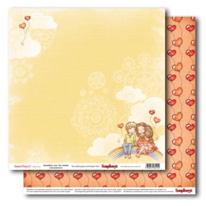 Бумага верхом на радуге, коллекция мальчик и девочка для скрапбукинга