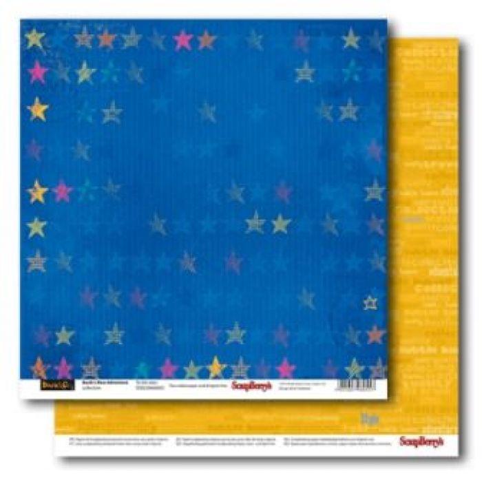 Бумага к звездам, коллекция новые приключения Басика для скрапбукинга