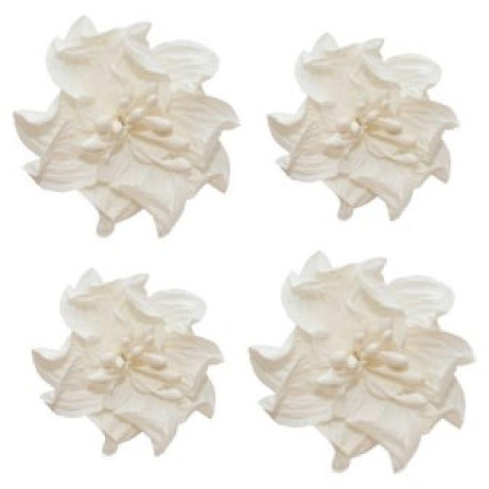 Цветы кудрявой фиалки белые для скрапбукинга