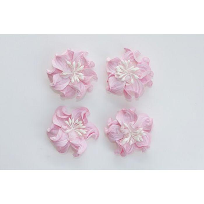 Цветы кудрявой фиалки розовые для скрапбукинга