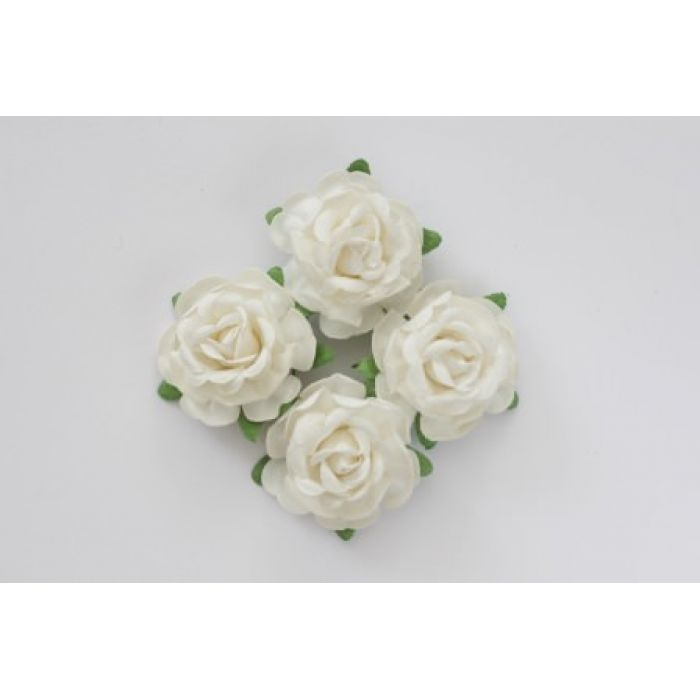 Цветы чайной розы белые для скрапбукинга