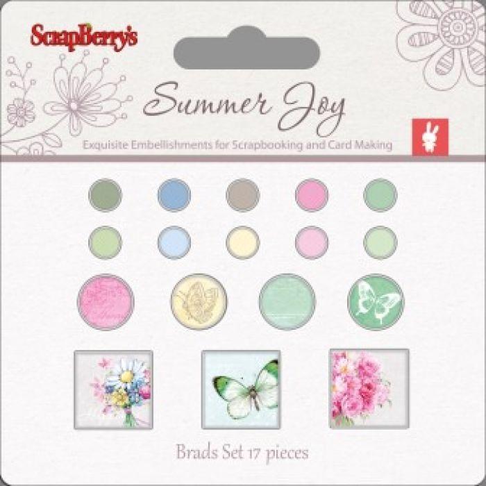Набор брадсов летняя радость 1 для скрапбукинга