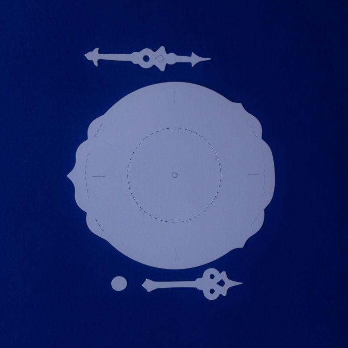 Циферблат и стрелки, вырубка из картона для скрапбукинга