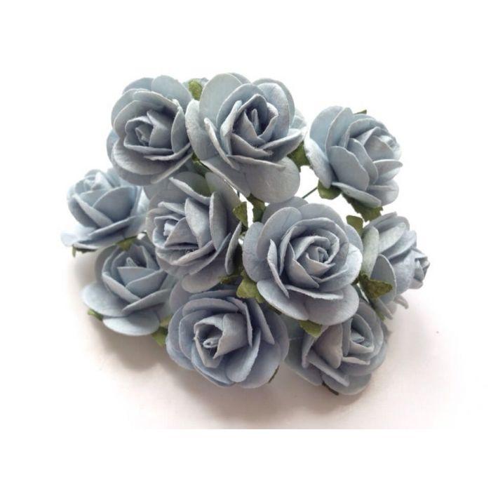 Розы голубого цвета, 25 мм для скрапбукинга