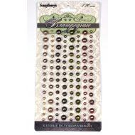 Клеевые полужемчужинки 120 шт 4 цвета Благородные