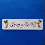 Чипборд гирлянда Baby 2