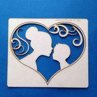Чипборд  мама с сыном в сердце