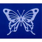 Бабочка 1, вырубка из белого картона