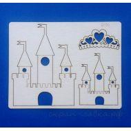 Чипборд замок принцессы